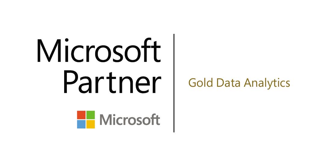 Microsoft Gold partner in data analytics, 2020